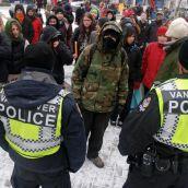 Agressive police meet steadfast community