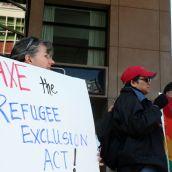 Refugee Exclusion Act. // Decreto de exclusion de refugiados/as. Vancouver, April 4 abril 2012. Foto: Sandra Cuffe