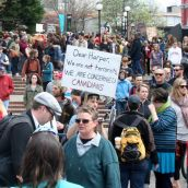 Dear Harper, We Are Not Terrorists. Victoria, April 15, 2012. Photo: Sandra Cuffe