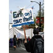 Earth can't save itself. Vancouver, April 22, 2012. Photo: Sandra Cuffe
