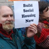 Part of the 10 sites campaign for social housing.