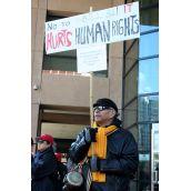 C-31 Hurts Human Rights. // El C-31 viola los derechos humanos. Vancouver, April 4 abril 2012. Foto: Sandra Cuffe