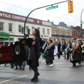 Community March Demands Safe Housing for Women. Vancouver, March 22, 2011. Photo: Sandra Cuffe