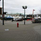 The corner of the designated protest area
