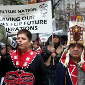 Heiltsuk Nation: Saving Our Shores for Future Generations. Vancouver, March 26, 2012. Photo: Sandra Cuffe