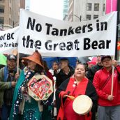 No Tankers in the Great Bear! Vancouver, March 26, 2012. Photo: Sandra Cuffe