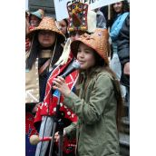 11-year-old Sliammon First Nation signer-songwriter Ta'Kaiya Blaney. Vancouver, March 26, 2012. Photo: Sandra Cuffe