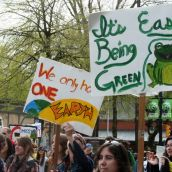 It's Easy Being Green. Vancouver, April 22, 2012. Photo: Sandra Cuffe