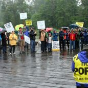 First-ever protest march in Ladner? But not the last.