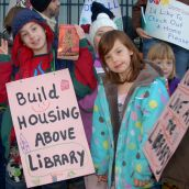 Supporters of housing above the planned Hastings Street library