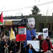 Solidarity with Palestine. Community March Against Racism. Vancouver, March 18, 2012.