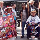 Indigenous people from North and South America joined to voice their solidarity