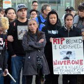 Vigil for Navarone Woods - executed by transit cops