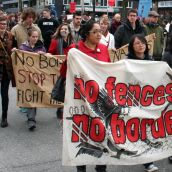 no fences, no borders. Community March Against Racism. Vancouver, March 18, 2012.