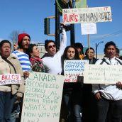 No to Bill C-31! // No al proyecto de ley C-31. Vancouver, April 4 abril 2012. Foto: Sandra Cuffe