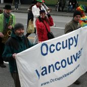 Occupy Vancouver. Community March Against Racism. Vancouver, March 18, 2012.
