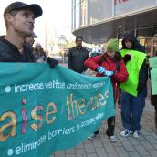 Raise the Rates calls for 'Justice not Charity' at CBC