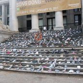 Shoes representing murdered women