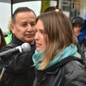 Kristin Henry and Grand Chief Stewart Phillip