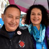 Grand Chief Stewart Phillip and tireless activist Shirly Samples
