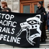 Stop Pacific Trails Pipeline. Victoria, April 15, 2012. Photo: Sandra Cuffe