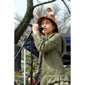 11-year-old Sliammon Nation singer-songwriter Ta'Kaiya Blaney. Vancouver, April 22, 2012. Photo: Sandra Cuffe