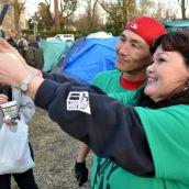 Tent City selfie