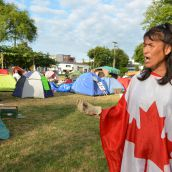 Tent Village Grows as Eviction Standoff Continues
