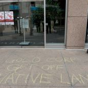 Outside Goldcorp HQ