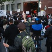 Rally at Main St Vancouver Police Station