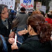 Vigil for Ashley Machiskinic - murdered in the Downtown Eastside