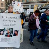 Vigil for Ashley Machiskinic - murdered in the Downtown Eastside