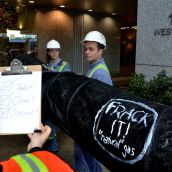 BC pipeline protests follow fracking frackas