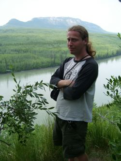 me at the Naeech'egah (Liard) River.