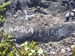 on a valley view lookout over a vast territory, this carving reminder...