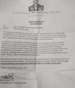 New Trespass Order Targets Ten Year Tent City