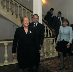 Michelle Bachelete arrives
