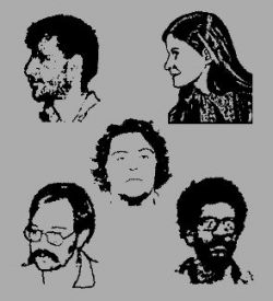 The five prominent members of the George Jackson Brigade