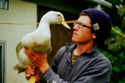 Chandler Briggs of Meadow Island Farm on Vashon Island.  Photo credit: Anya Kamenskaya