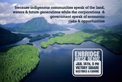 Enbridge Panel to be Greeted with Loud Demonstration