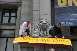Doing all Greenpeace is good for anymore (guy on the right wasn't *really* in on it)