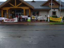 Enbridge representatives are issued a final trespass notice by the Likhts'amsiyu Clan of the Wet'suwet'en Nation