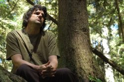 Derrick Jensen in the redwoods, May 2009. Photo by Dawn Paley.