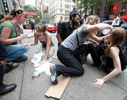 Several women were the victims of a chemical attack in NYC during an Occupy Wall Street march