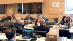 Apache-Nde-Nnee Working Group at UNCERD meeting, December 2015. Photo from youtube posting by Michael Paul Hill.