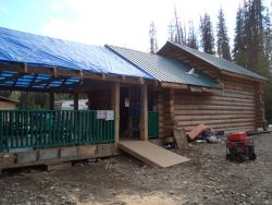 This cabin was built in the right of way of the Enbridge Pipelines and the nearly permitted natural gas Pacific Trails Pipeline.