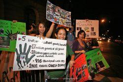 Chevron protestors