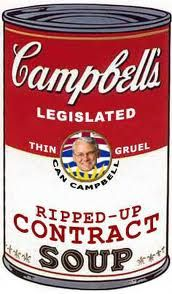 Gordon Campbell`s Ripped -Up Contact Soup
