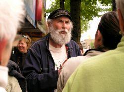 Ned Jacobs on Main Street, Jane's Walk 2009