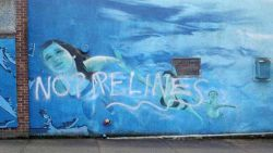 Mural Artist: Milan Basic; Graffiti: Anon
